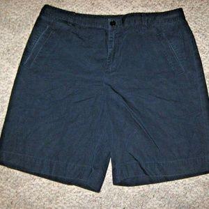RALPH LAUREN Dark Navy Blue 100% Cotton Shorts 14